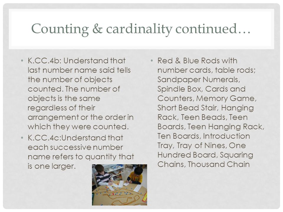 Counting & cardinality continued…