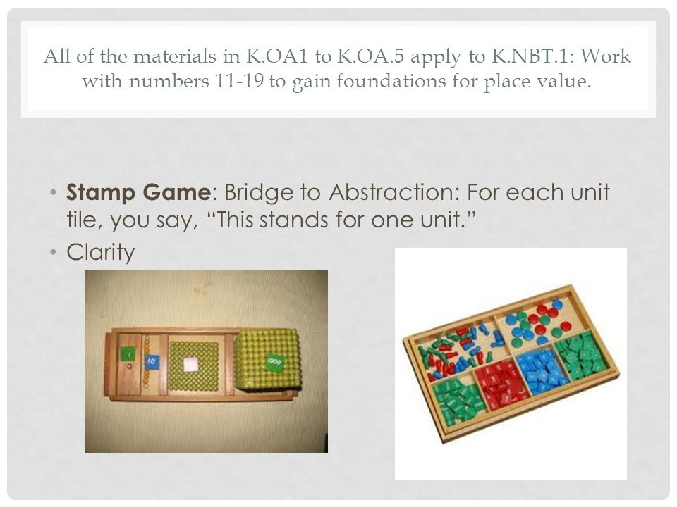All of the materials in K. OA1 to K. OA. 5 apply to K. NBT