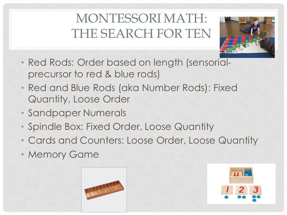Montessori math: The Search for Ten