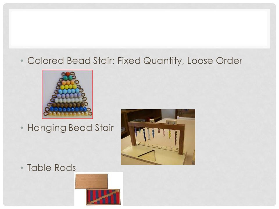 Colored Bead Stair: Fixed Quantity, Loose Order