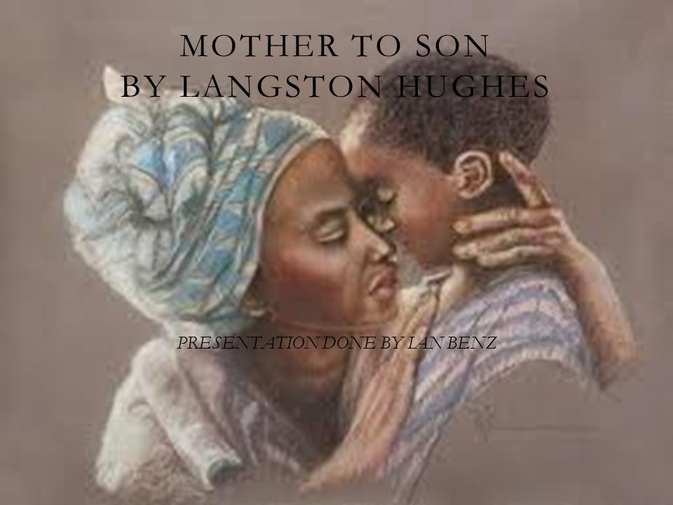 when did langston hughes wrote mother to son
