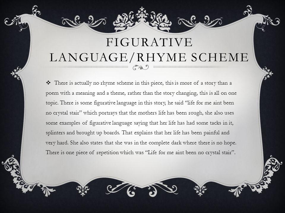 Figurative language/Rhyme scheme