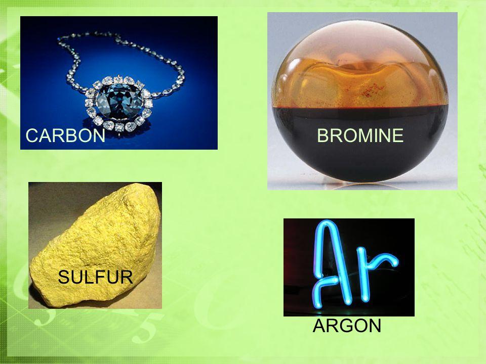 CARBON BROMINE SULFUR ARGON