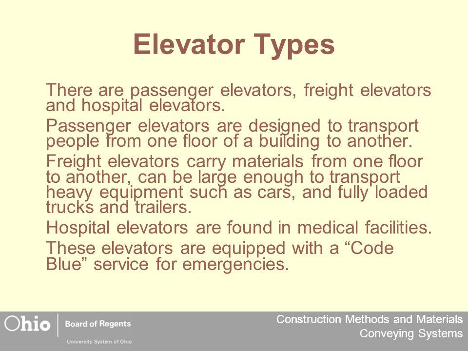 Elevator Types