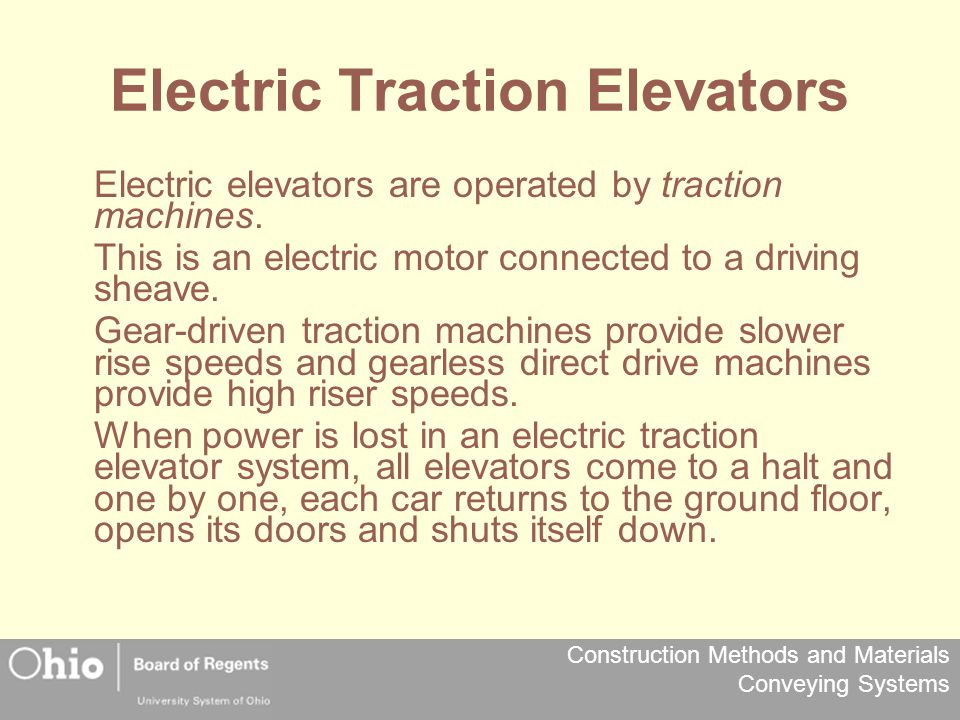 Electric Traction Elevators