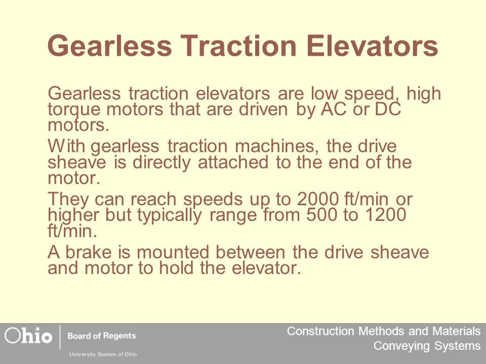 Gearless Traction Elevators