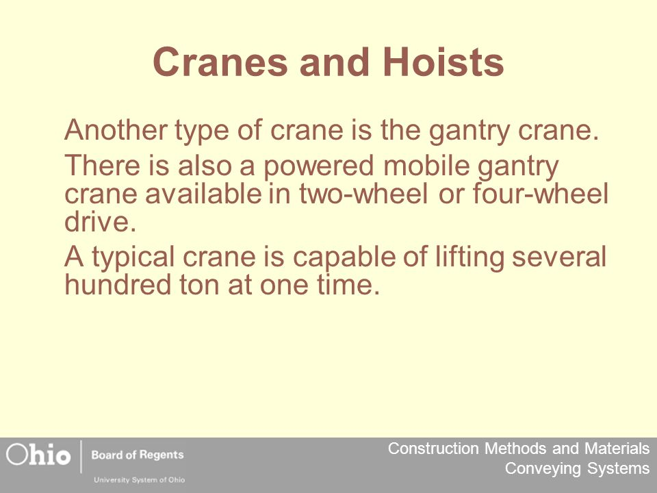 Cranes and Hoists