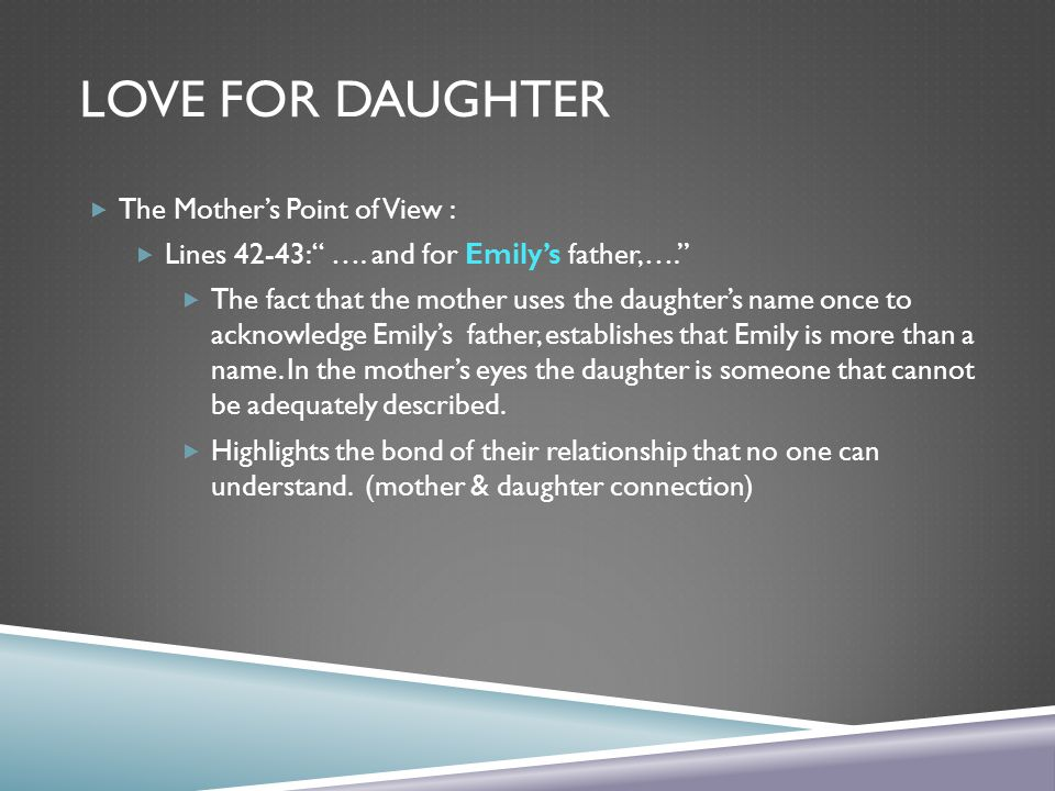 Love for Daughter The Mother's Point of View :