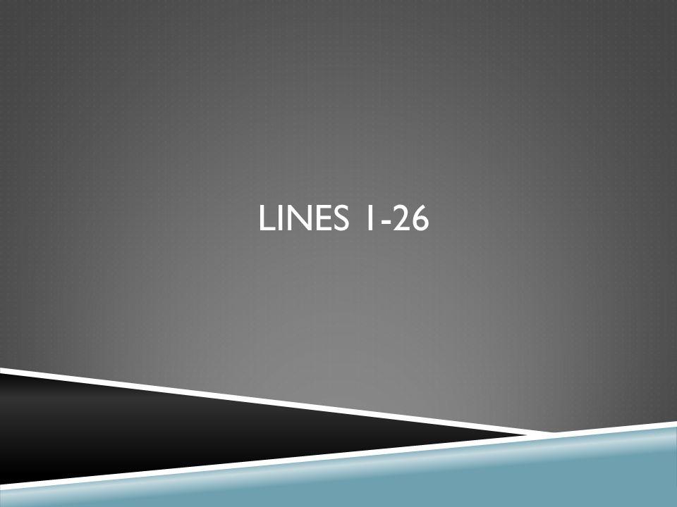 Lines 1-26