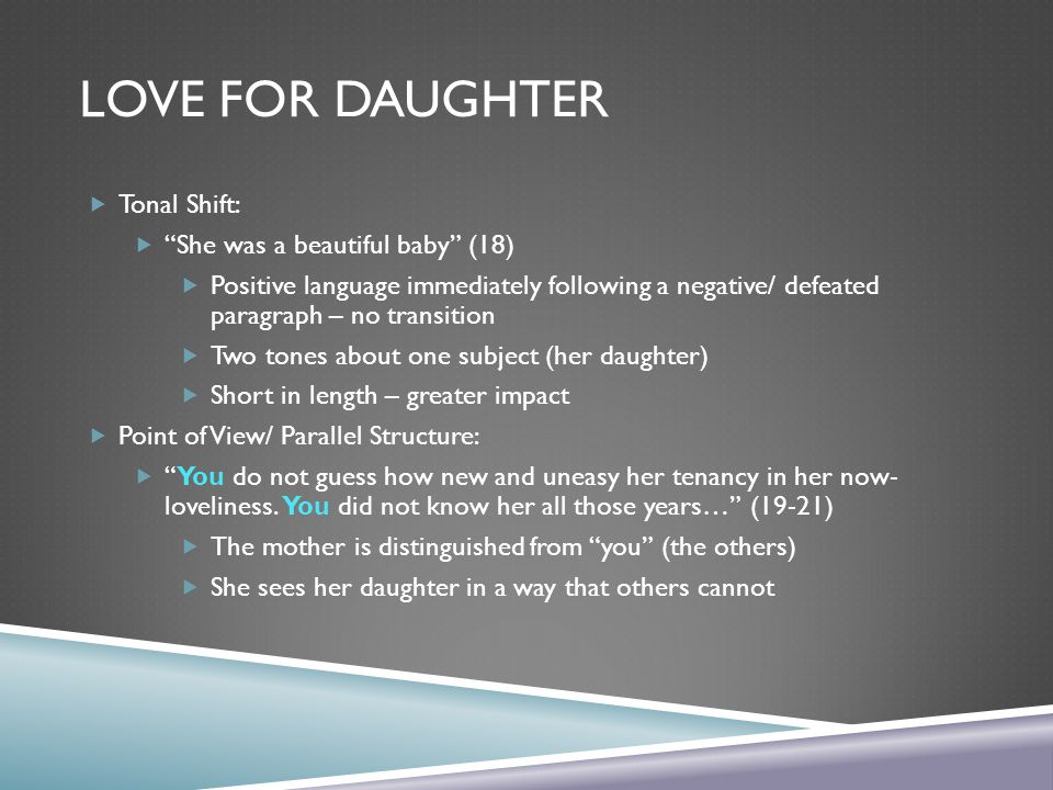 Love for Daughter Tonal Shift: She was a beautiful baby (18)