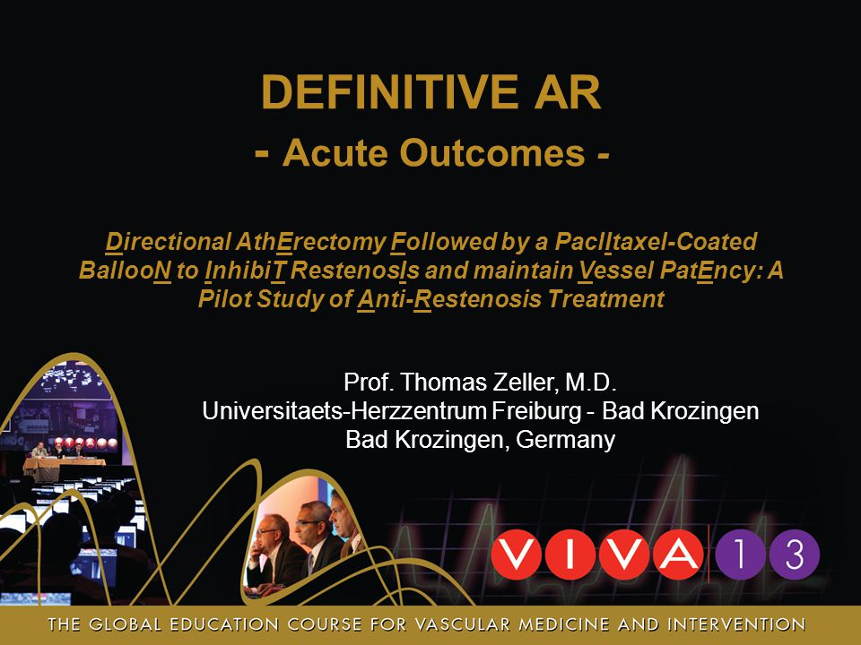 DEFINITIVE AR - Acute Outcomes -
