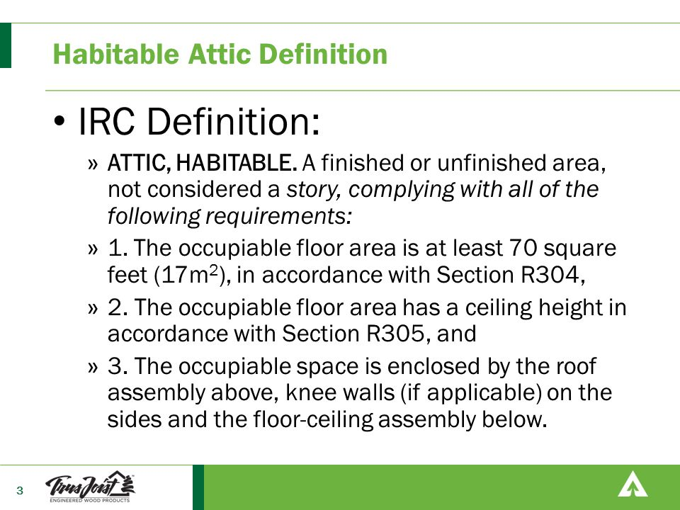 Habitable Attic Definition