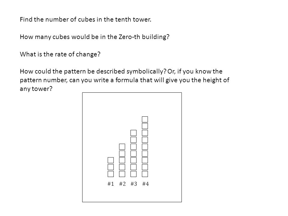 Find the number of cubes in the tenth tower.