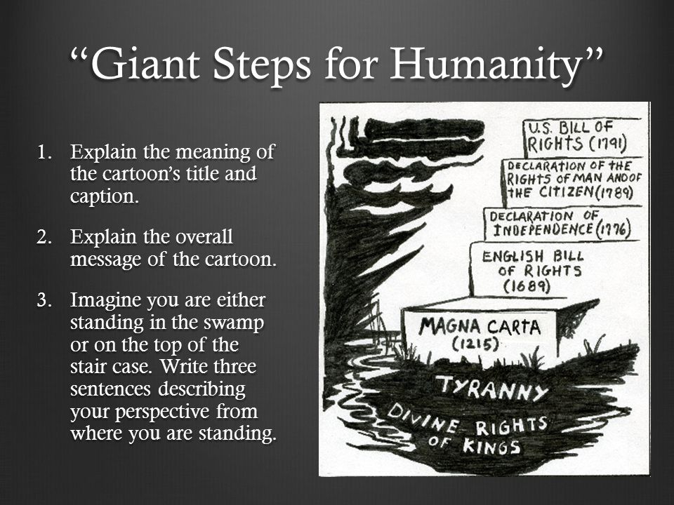 Giant Steps for Humanity