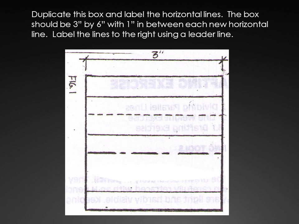 Duplicate this box and label the horizontal lines