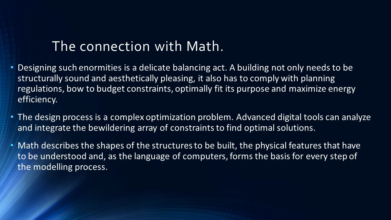 The connection with Math.
