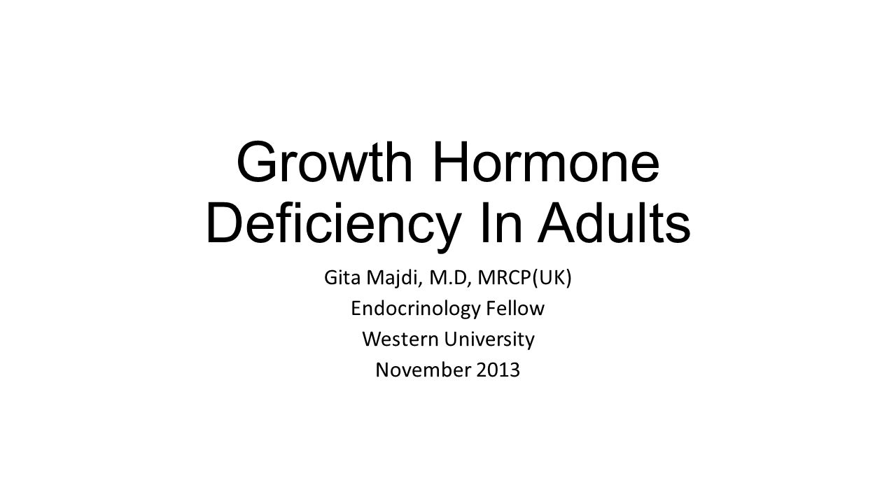 Growth hormone disorders in adults more detail