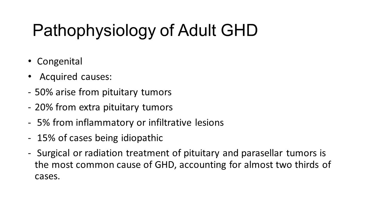 Pathophysiology of Adult GHD