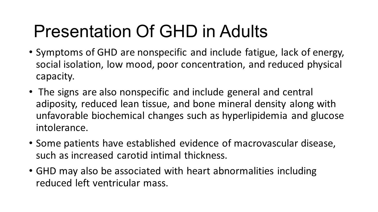 Presentation Of GHD in Adults