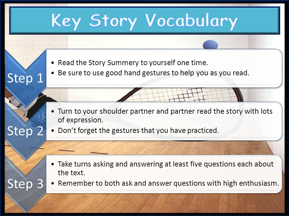 Key Story Vocabulary Step 1