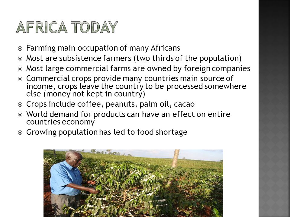 Africa Today Farming main occupation of many Africans