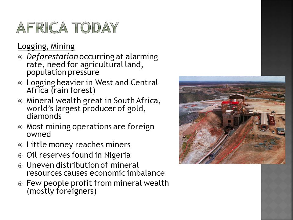 Africa Today Logging, Mining