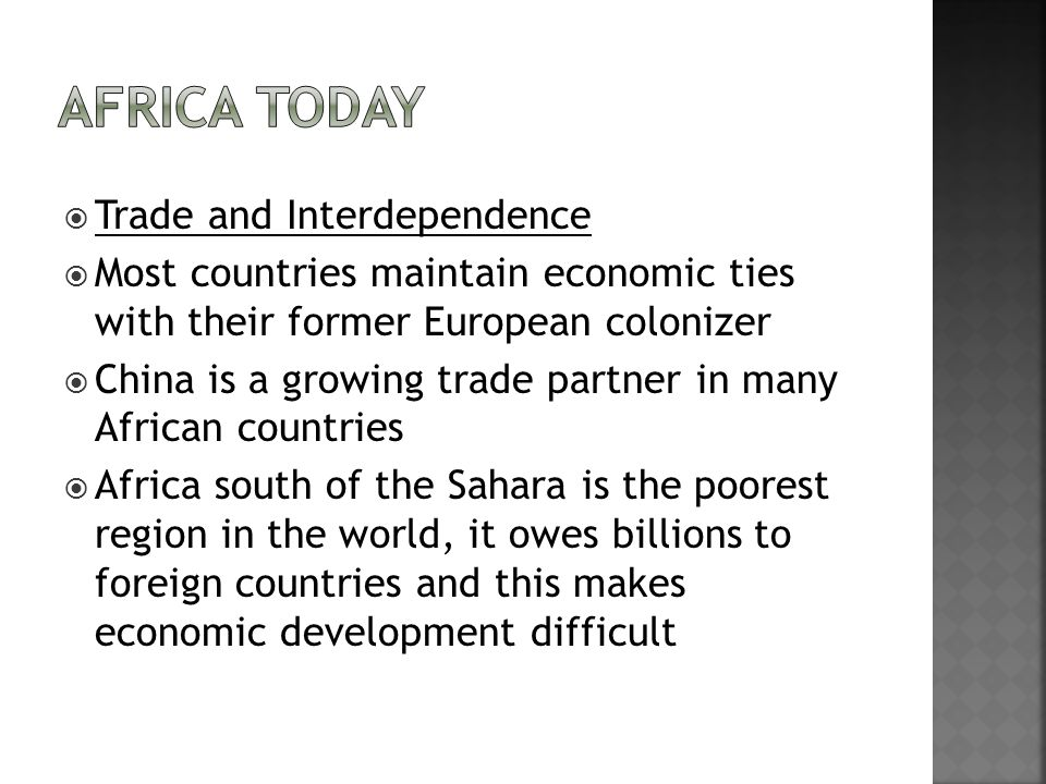 Africa Today Trade and Interdependence