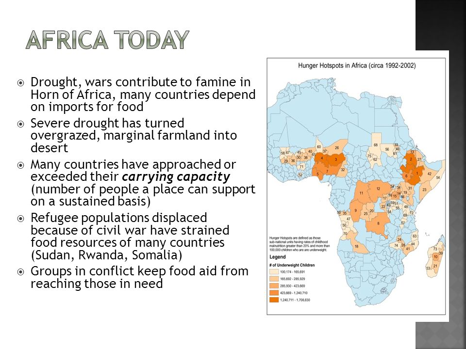 Africa Today Drought, wars contribute to famine in Horn of Africa, many countries depend on imports for food.