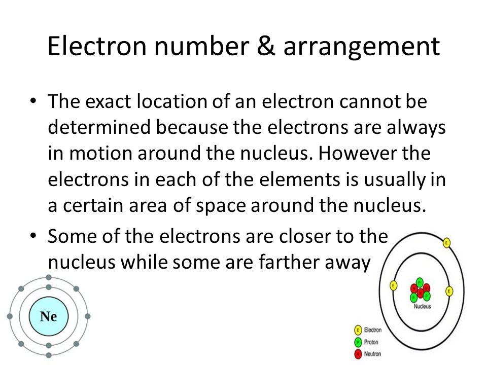 Electron number & arrangement