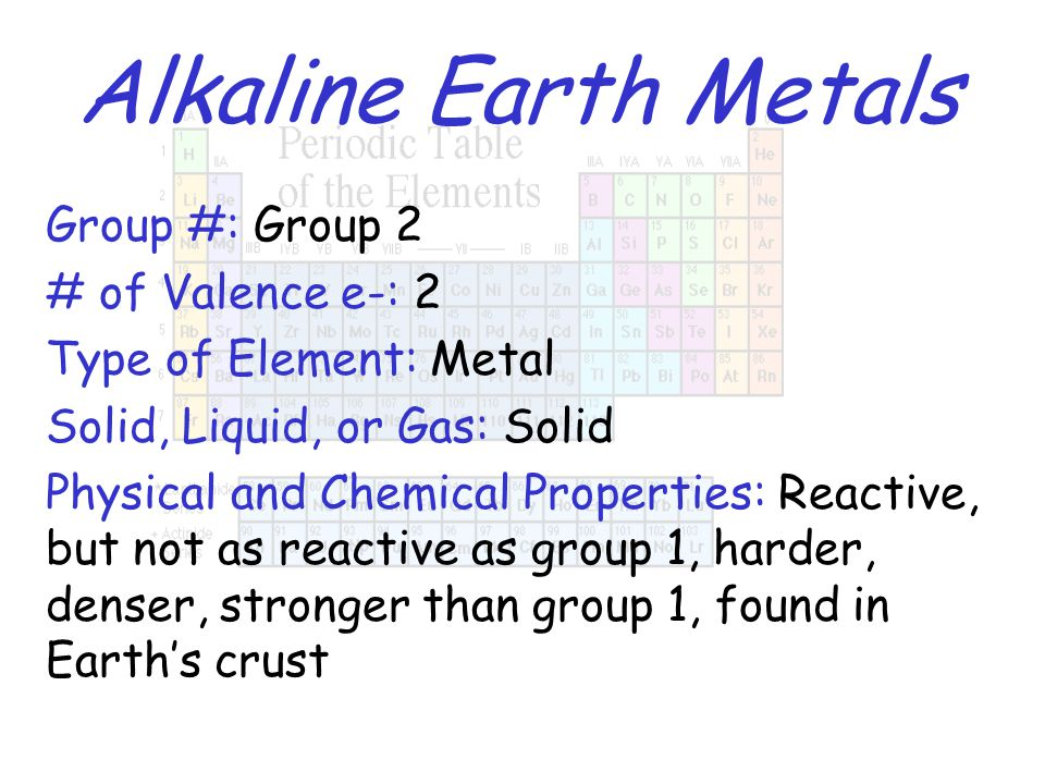 Periodic table properties ppt video online download 6 alkaline earth urtaz