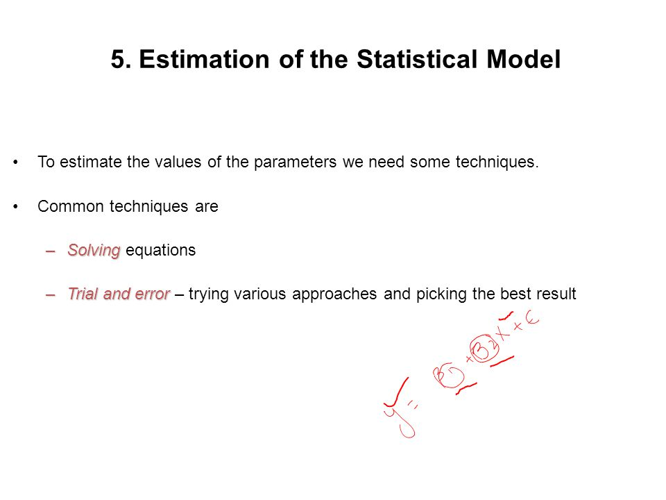 5. Estimation of the Statistical Model