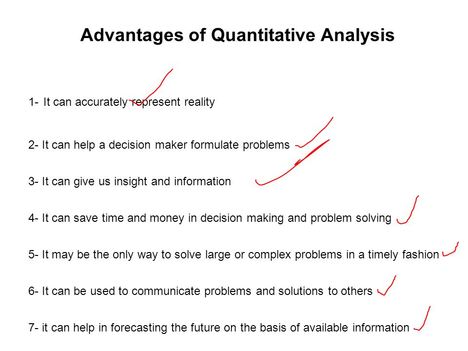 Advantages of Quantitative Analysis