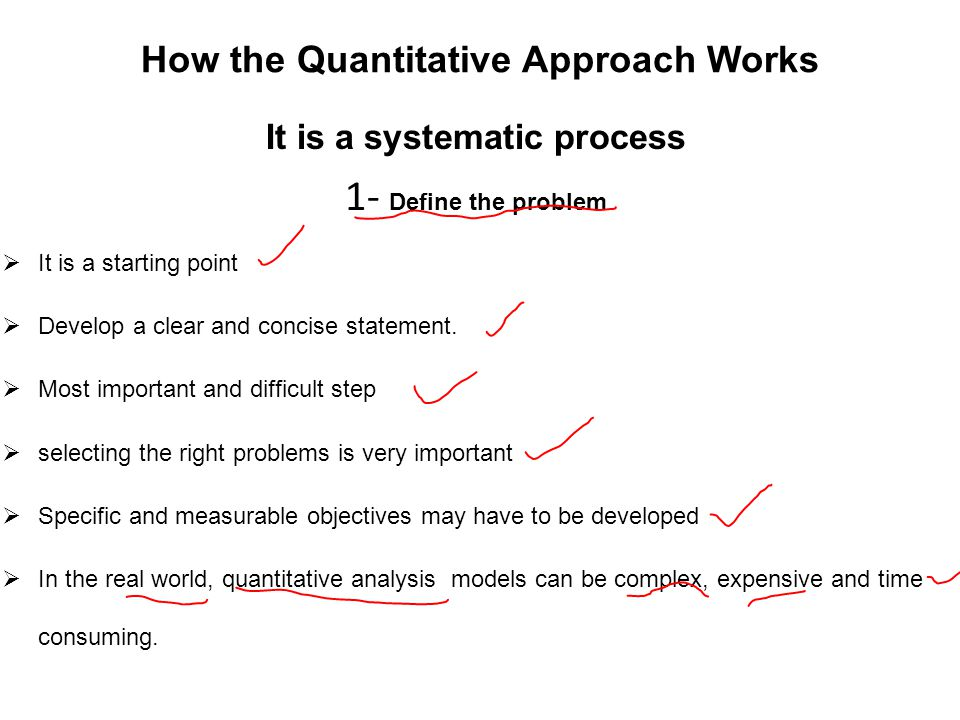 How the Quantitative Approach Works