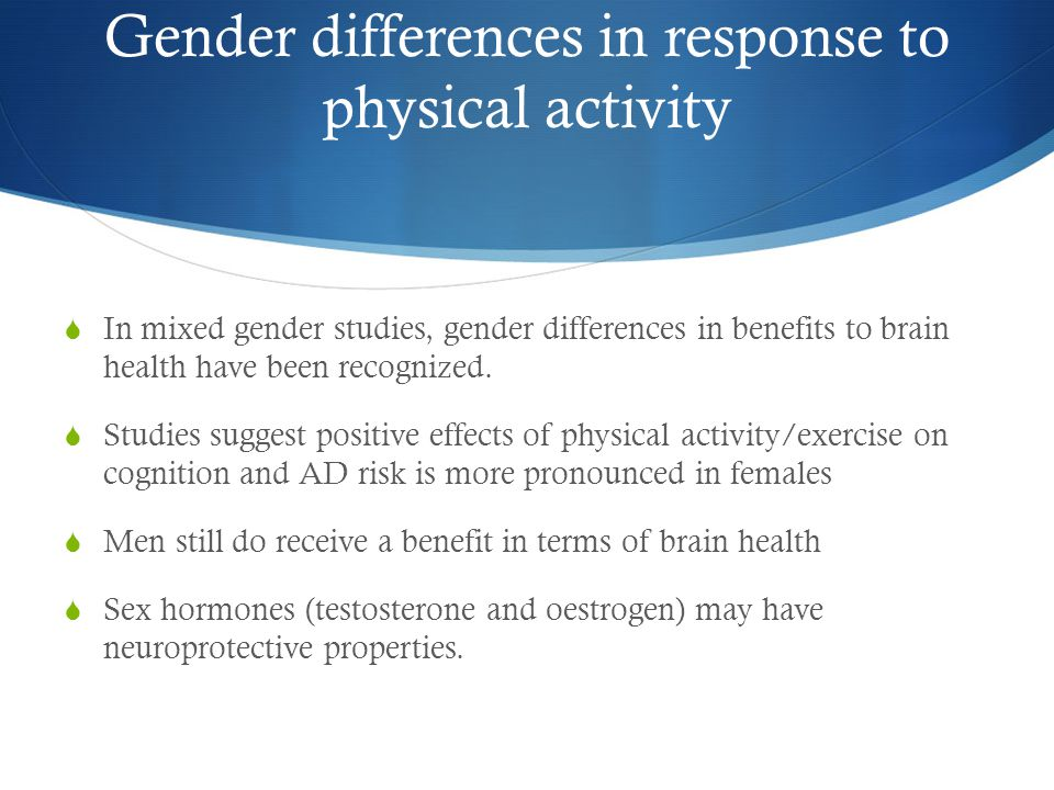 Gender differences in response to physical activity