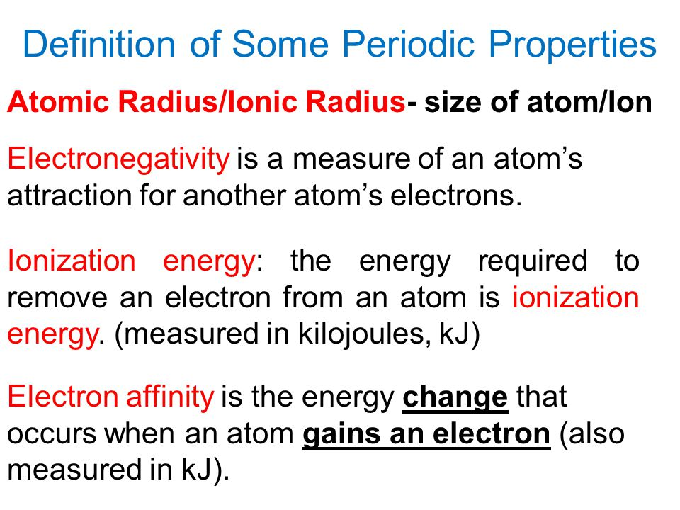 Definition of Some Periodic Properties