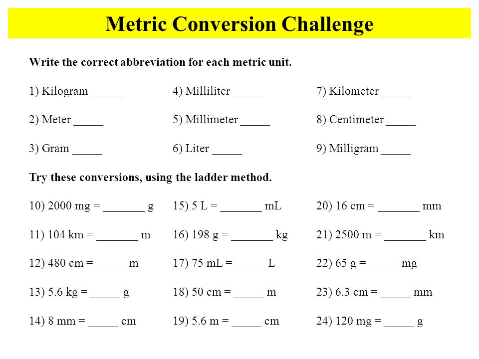 metric conversions ladder method ppt video online download. Black Bedroom Furniture Sets. Home Design Ideas