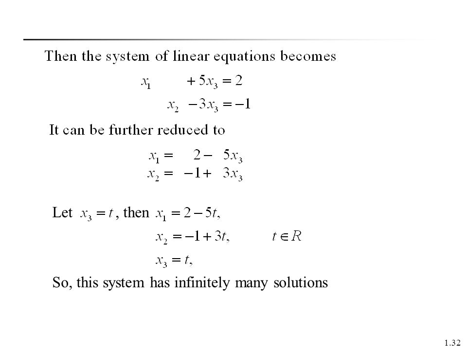 Let , then So, this system has infinitely many solutions