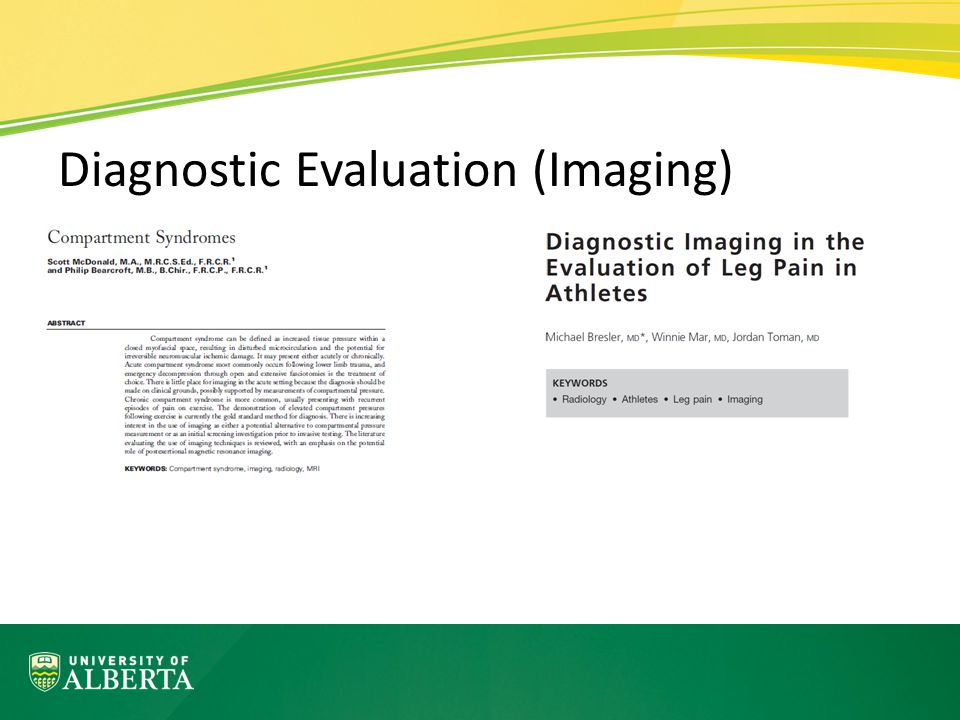 Diagnostic Evaluation (Imaging)