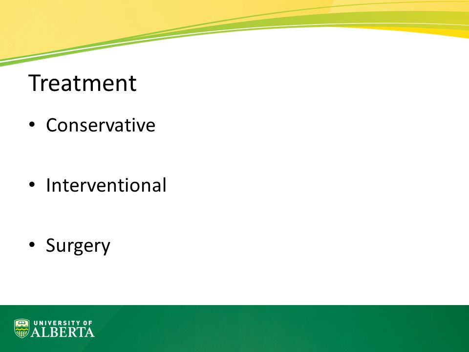 Treatment Conservative Interventional Surgery