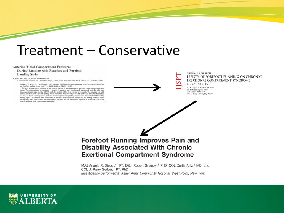 Treatment – Conservative