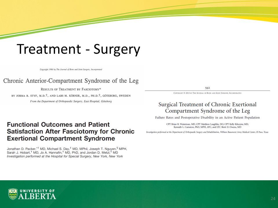 Treatment - Surgery First two papers reports rates close to what is reported in various studies in the literature 80-95%