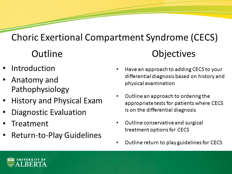 Choric Exertional Compartment Syndrome (CECS)