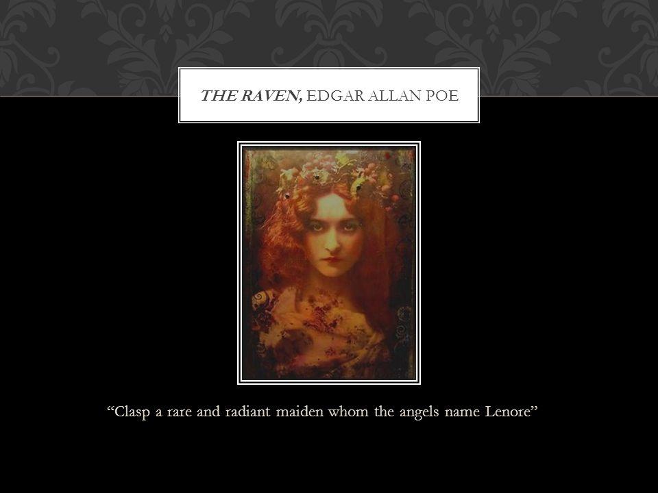 THE RAVEN, EDGAR ALLAN POE