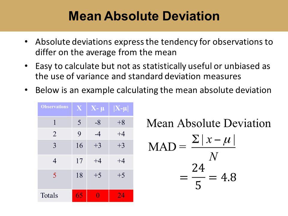 Mean Absolute Deviation