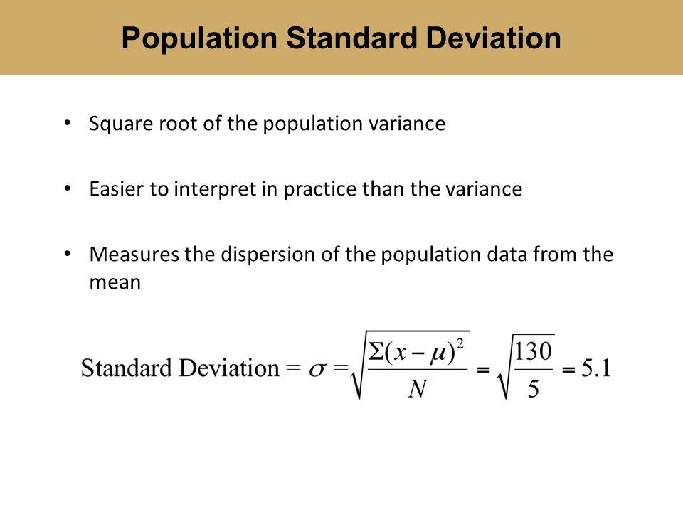 Population Standard Deviation
