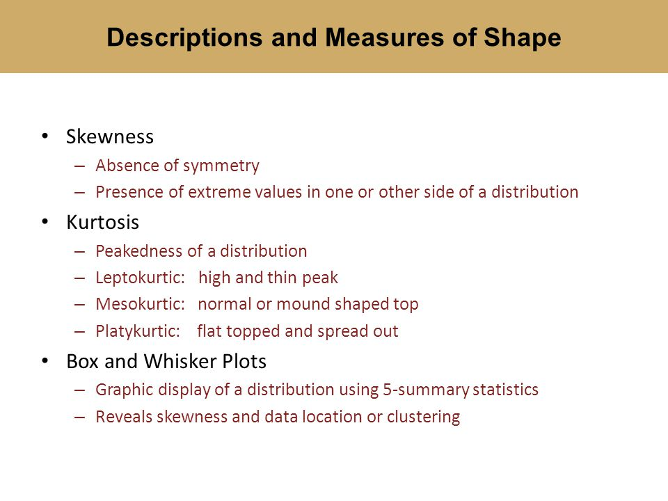 Descriptions and Measures of Shape