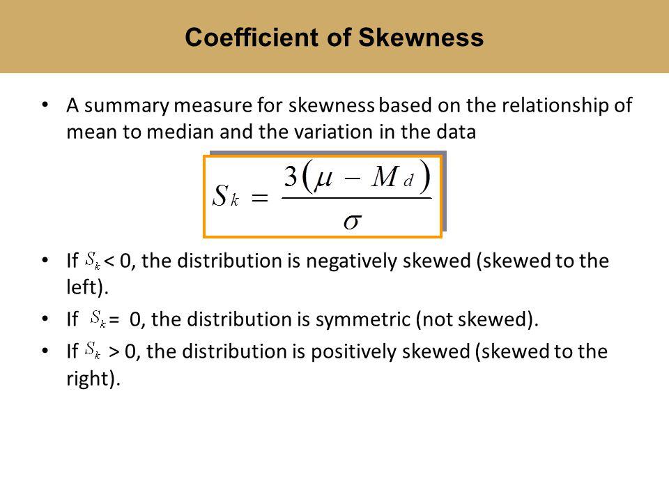 Coefficient of Skewness