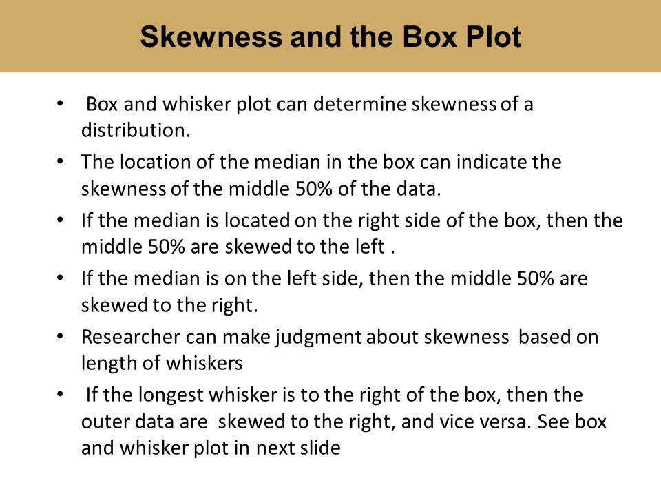 Skewness and the Box Plot