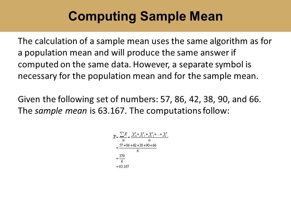 Computing Sample Mean