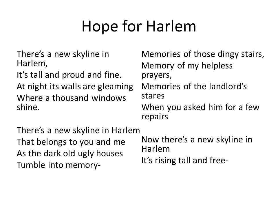 Hope for Harlem